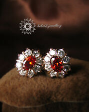 Simulated Ruby/Red Crystal Classic Stud Earring/Rose gold/RGE303G