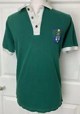 Al-Ahli Saudi Fc Vintage Mens Green Polo Soccer Futbol Olympia Shirt Size Medium