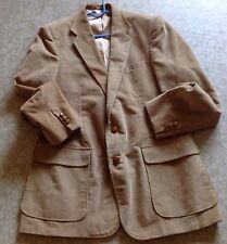 Mens Haggar USA 42L Tan Corduroy Sports Jacket Coat Lined EUC