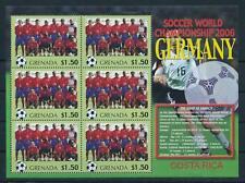 [105234] Grenada 2006 World cup football Germany team Costa Rica Sheet MNH
