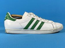Adidas Tribunal Star Zapatillas Tenis Tamaño U.K.10 Blanco Rayas Verdes