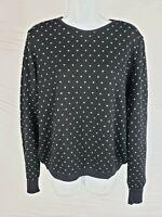 NWT $575 Manuelle Guibal Paris Black Polka Dot 100% Wool Knit Sweater Size 2