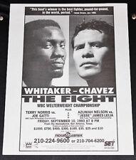 PERNELL WHITAKER vs JULIO CESAR CHAVEZ Original *ENGLISH* handbill boxing poster