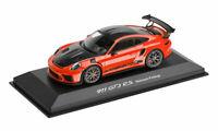 Porsche 911 GT3 RS w/ Weissach Package Diecast Model 1:43 Scale Lava Orange