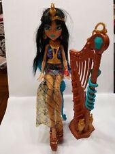 Seltene Mattel Monster High Music Class Cleo de Nile Doll DVH 63 mit Harfe