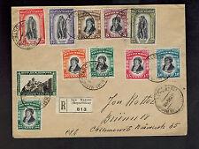 1935 San Marino Registered Cover to Czechoslovakia # 169-176