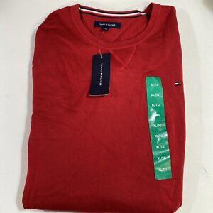 Tommy Hilfiger Mens Crew Neck Sweatshirt Pullover Medium Chili Pepper Red XL NEW