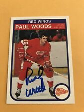 Paul Woods Signed 82/83 O Pee Chee Detroit Redwings Card # 98