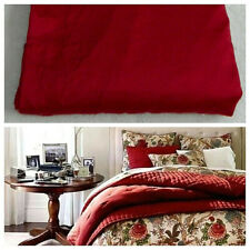 COURT OF VERSAILLES Cotton QUEEN SHEET Flat CRIMSON RED Bedding    Z