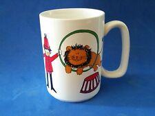 Vintage CELTIC EARTHENWARE IRELAND IRISH CIRCUS LION COFFEE MUG