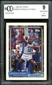 1992-93 Topps #362 Shaquille O'neal Rookie Card BGS BCCG 9 Near Mint+