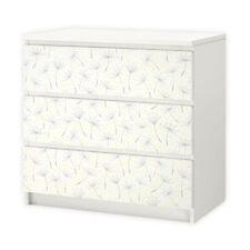 nikima - 013 Möbelfolie für IKEA MALM - Pusteblume - 3 Schubladen Aufkleber Stic