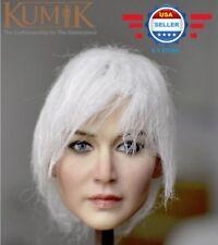 KUMIK KM18-37 1/6 White Hair Female Head Sculpt for 12'' Female Figure Doll