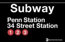 New york subway or train station strassenschild penn station, street sign, 43cm