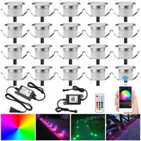20/30X Smart WIFI RGB 31mm 12V Kitchen Stair Step LED Deck Lights Dimmer Timer