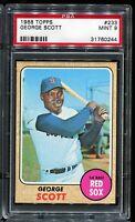 1968 Topps Baseball #233 GEORGE SCOTT  Boston Red Sox PSA 9 MINT