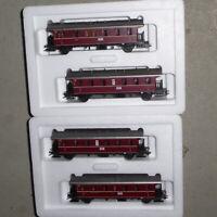 Märklin 43138,43139 H0 2x Wagensets rote Donnerbüchsen DB Epoche3,unbenutzt,OVPs