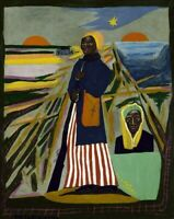 WILLIAM H. JOHNSON : Harriet Tubman : 1945 : Archival Quality Art Print
