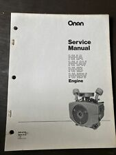 ONAN NHA NHAV NHB NHBV Engine Service Manual Book Guide Repair Workshop Overhaul
