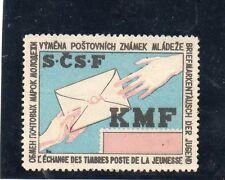 Viñeta S.C.S.F. L'Echange des timbres postes de la Jeunesse (CE-129)