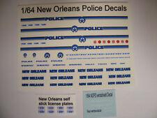 New Orleans LA Police 1/64 Water Slide Decals Fits Explorer Crown Vic Taurus