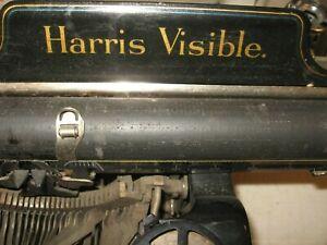 HARRIS VISIBLE VINTAGE TYPEWRITER