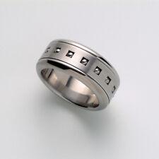Spinner Band Steel Ring Motion Band Swivel Ring Fidget Ring Sz 5 6 7 8 9 10-13