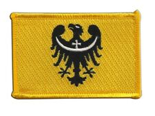 Polen Woiwodschaft Niederschlesien Aufnäher Flaggen Fahnen Patch Aufbügler 8x6cm