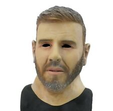 Realistic Young Man Face Mask Famous People Costume Mask