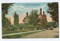 Civic Club in HARRISBURG PA Vintage Dauphin County Pennsylvania Postcard