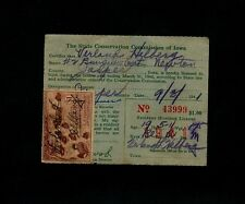 RW8 $1 Ruddy Ducks - 1941 original Iowa License - Verland Helberg of Newton