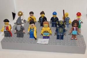 LEGO bulk 12 Minifigures / Minifigs - Gandalf Policeman Wrestler + (y81) GENUINE