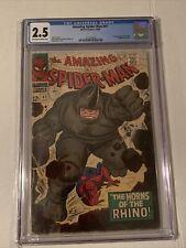 amazing spiderman 41 cgc. First Rhino. Marvel 1966. CGC 2.5. 🔥🔥🔥