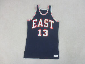 VINTAGE Efinger Basketball Jersey Adult Medium Blue All Star Game Used Worn Mens