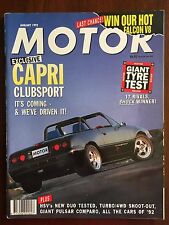 Motor Jan 1992 Capri Clubsport Rare Collectable Motor Vehicle Auto Unique Sale