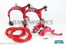 Dia-Compe MX883 - MX122 Red Brake Set - Old School BMX Style Brakes