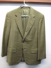Holland and Sherry Dormeuil Men's Bespoke Olive Sport Coat Blazer Aprox Sz 38R