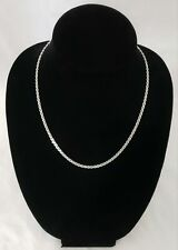 "STERLING SILVER 925 DANECRAFT MARINER CHAIN NECKLACE 20"" LONG 9 GRAMS"