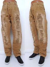 772d7159530 Men s EVOLUTION Burgundy Khaki BIG   TALL Rip Distressed Slim Denim Jeans  33252X