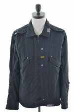 G-STAR Mens Jacket Size 40 Medium Black Cotton
