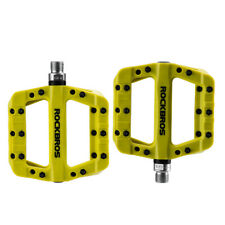 "ROCKBROS Bicycle Nylon Pedals Bearing Cycling Bike Pedals 9/16"" Green"