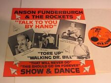 Anson funderburgh & the Rockets talk to you by hand UK 1982 VINILE/COVER: MINT -