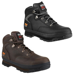 Timberland Pro Euro Hiker Safety Leather Boots Mens Steel Toe Cap Shoes UK6-12