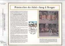 Feuillet CEF Belgique n°356 Procession du Saint-Sang à Bruges