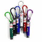 3in1 Mini Portable LED Laser UV Torch Beam Light Flashlight Pen Pointer Keyring
