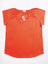 NEW WITH TAG OLD NAVY Coral V-Neck Cap Sleeves Jersey T-Shirt Size Medium