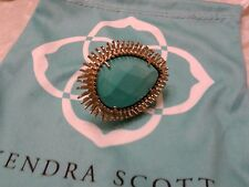 Kendra Scott Vaire Framed Turquoise Blue Statement Cocktail Ring 5 Rare HTF