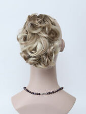 More Honey Ash Blonde Mix Short Curly claw clip Daily ponytail Hair Extensions