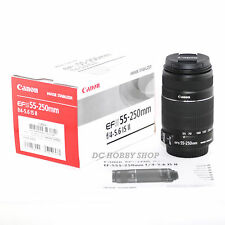 Canon EF-S 55-250mm f/4-5.6 IS II EFS 55 250 mm zoom lens (white box)
