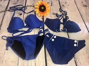 Lot Of 4 Women's Ralph Lauren, Old Navy Bikini Bottoms & Tops Sz. XS EUC